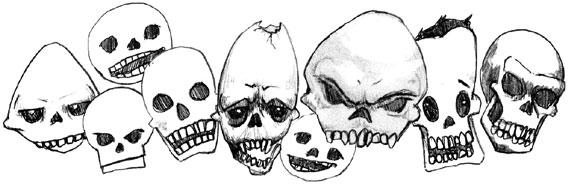 Cartoon Skulls