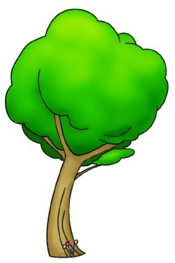 Cartoon Tree Finished Drawing